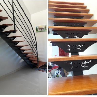 Escalier Intérieur Limon Central